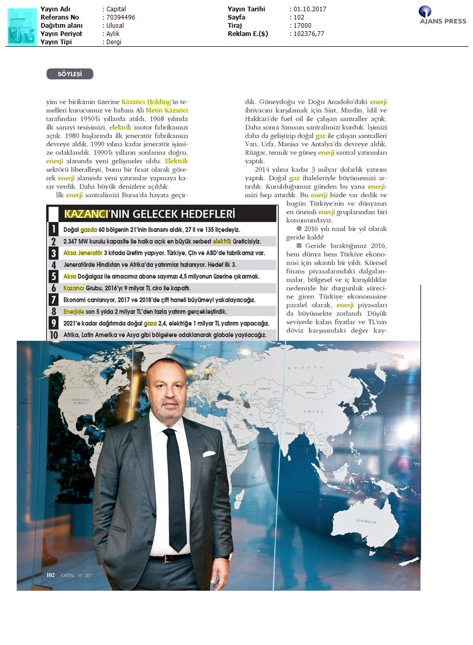"""KAZANCI HOLDİNG YÖNETİM KURULU BAŞKAN YARDIMCISI CEMİL KAZANCI: """"GLOBALLEŞME KARARI ALDIK"""""""