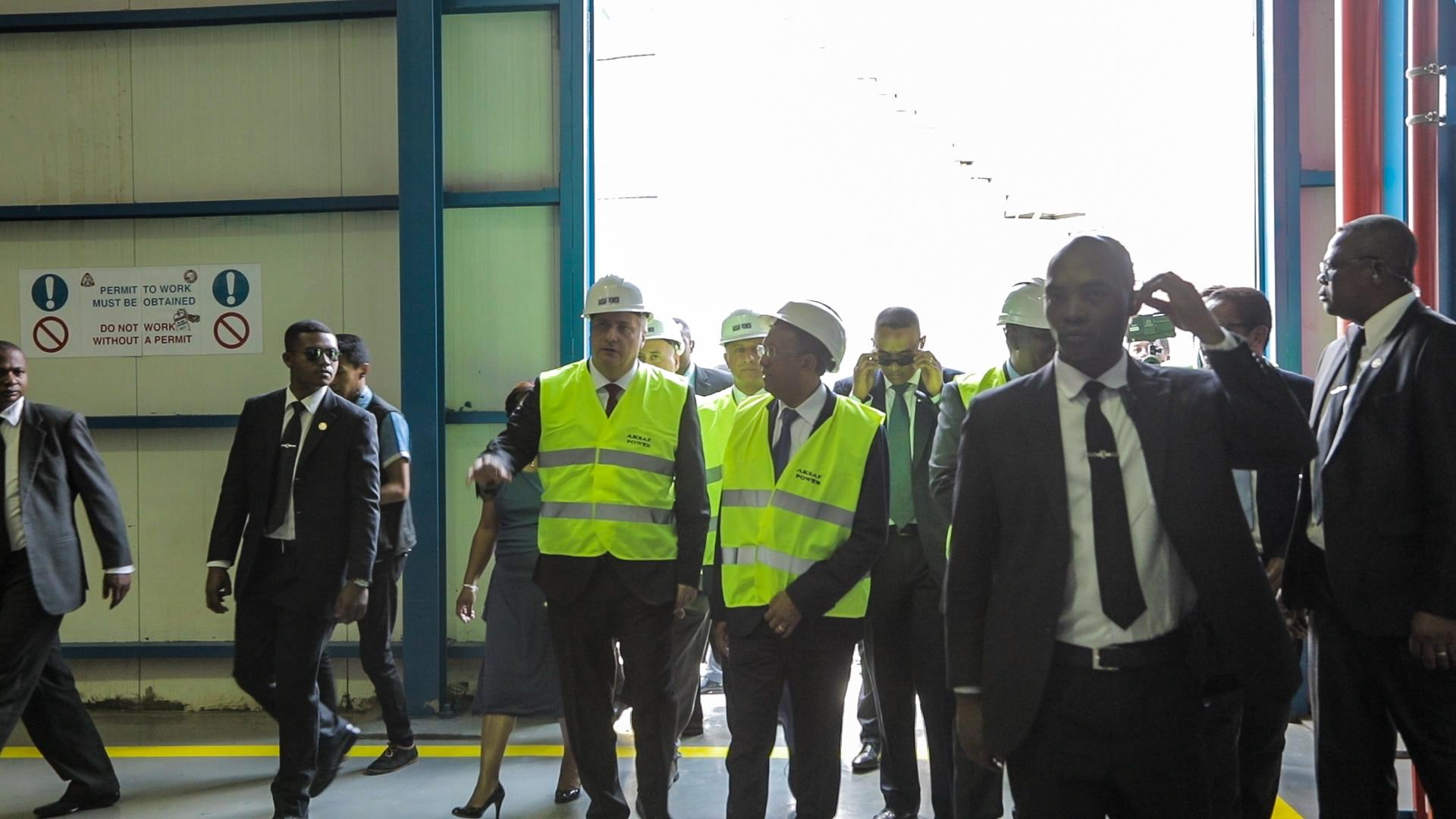 Aksa Enerji'nin Madagaskar Santralini Madagaskar Cumhurbaşkanı Açtı