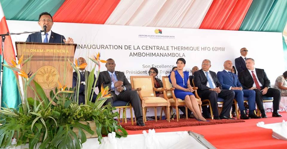 AKSA ENERJİ'NİN MADAGASKAR SANTRALİ'Nİ MADAGASKAR CUMHURBAŞKANI AÇTI