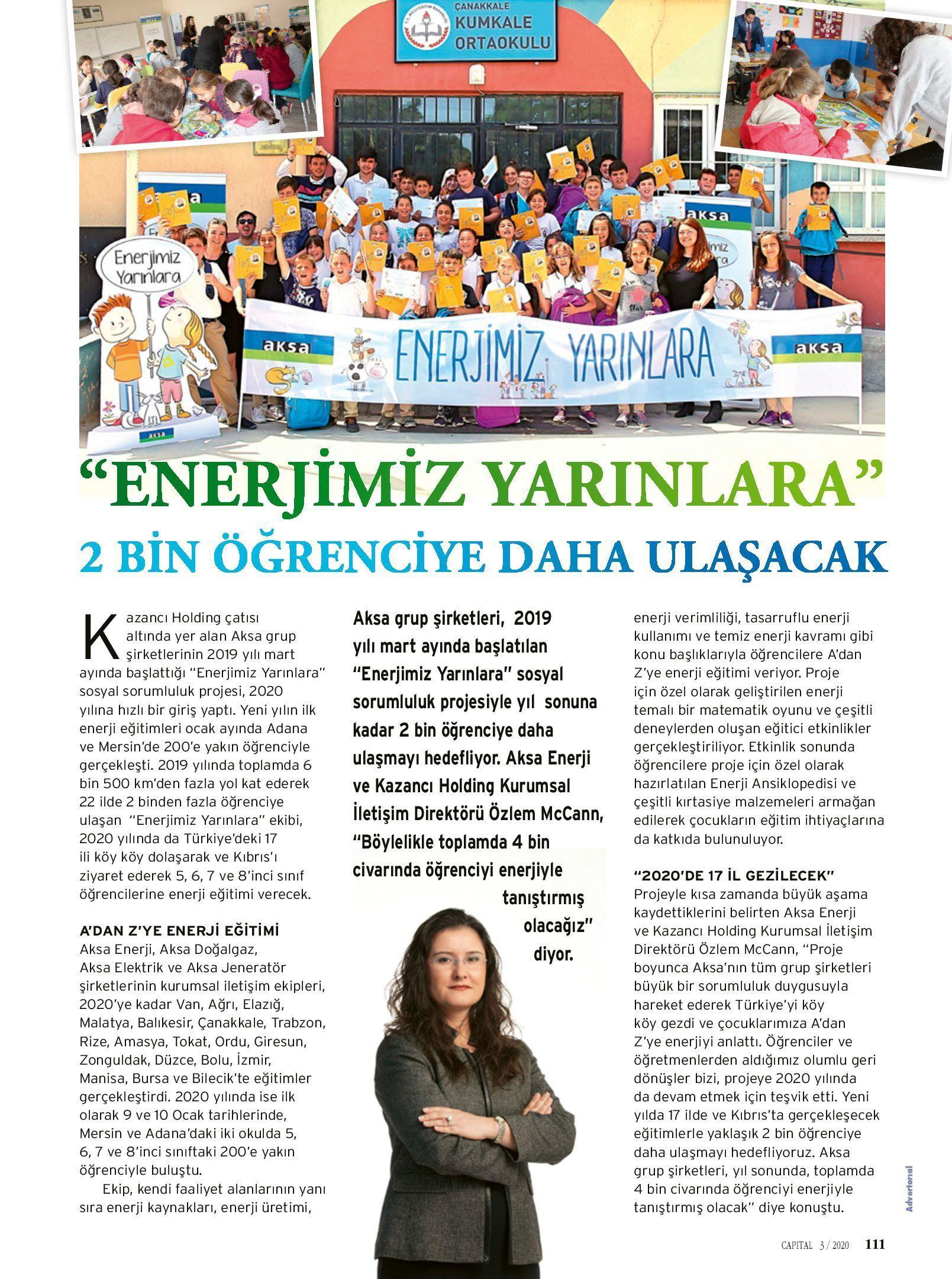 """""""ENERJİMİZ YARINLARA"""" 2.000 Öğrenciye Daha Ulaşacak"""